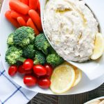 Mixed Veggies & Garlic Rosemary White Bean Dip