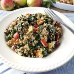 Spiced Apple Quinoa and Kale Salad
