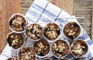 Power Packed Blueberry Banana Oat Muffins